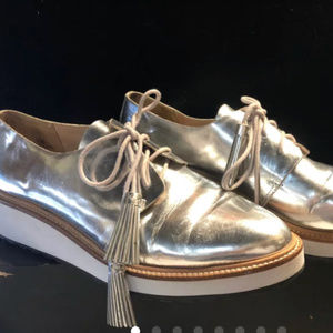 Loeffler Randall Shoes Loafers 10 Silver Like New